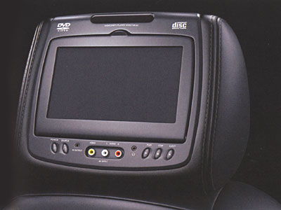 2009 Saab 9-7 X Rear-Seat Entertainment System